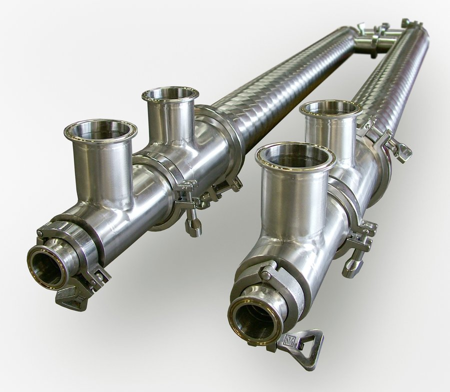 Triple-tube end